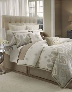 Imagine folded down and without all those pillows! Marrakesh Duvet | Lord and Taylor
