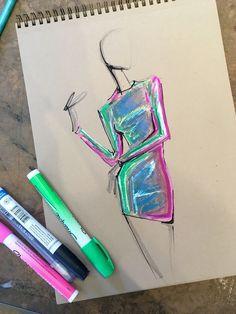 Illustration Mode, Fashion Illustration Sketches, Fashion Sketches, Drawing Sketches, Art Drawings, Collage Illustration, Rose Drawings, Drawing Drawing, Dress Sketches