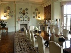 The Dining Room at Leeds Castle, designed by Boudin for Lady Olive Baillie c. 1935.