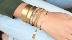 Bracelets-or-et-pastels Bracelet Massai et Tresse Gas Bijoux Bracelet Jonc Fish Alexandra Margnat