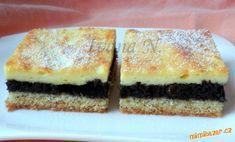 Křehký makový koláč s tvarohem | Mimibazar.cz Czech Recipes, Sponge Cake, Sweet Desserts, French Toast, Cheesecake, Sweets, Bread, Cookies, Breakfast