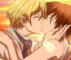 Tamaki and Haruhi what every fan girl wanted to happen.