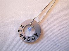 metal stamping kit + washer = cute necklace