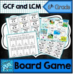 This activity meets Common Core State Standard Find the greatest common factor of two whole numbers less than or equal to 100 and the least common multiple of two whole numbers less than or equal to 12 . Fun Math, Math Games, Pascal's Triangle, Least Common Multiple, Greatest Common Factors, Printable Board Games, Prime Numbers, Recording Sheets, Phonics