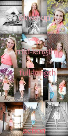 Senior Pictures female posing guide: 16 easy, natural poses for girls; close-up, mid-length, full-length action posing by isabelle Senior Portrait Poses, Senior Girl Poses, Senior Girls, Senior Session, Senior Posing, Family Posing, Family Portraits, Senior Portrait Photography, Love Photography