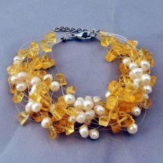 Mash Bohemia Baroque Statement Pearl Bracelet