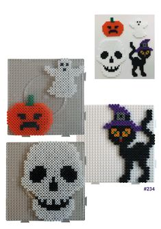 HAMA - The Effective Pictures We Offer You About diy halloween disfraz A quality picture can tell you many things. You can find the most beautiful pictures that can be presented to you abou Diy Halloween, Hama Beads Halloween, Crochet Pour Halloween, Bricolage Halloween, Halloween Snacks, Pearler Bead Patterns, Perler Patterns, Crochet Pony, Fuse Beads