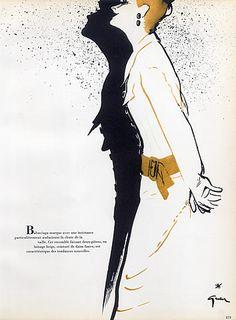 Cristóbal Balenciaga 1952 René Gruau, Fashion Illustration