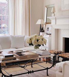Interior Design Work, Interior Design Living Room, Living Room Designs, Elegant Living Room, Formal Living Rooms, Traditional Living Rooms, Traditional Fireplace, Living Room Furniture, Living Room Decor