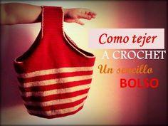 (65) Como tejer un sencillo bolso a crochet (zurdo) | CROCHET | Pinterest