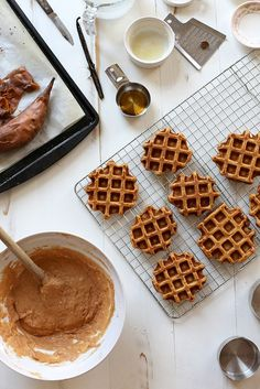 veggies in at breakfast time: Vanilla Sweet Potato Waffles by Joy the Baker