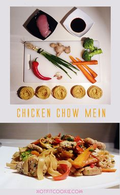 Do you love Chow Mein? Are you trying to eat healthy? If you answered yes, this recipe is for you!  Often Chow Mein isn't the healthiest item to order because some chefs add brown sugar, too much oil, or bad quality soy sauce with preservatives. I've developed the most delicious and healthy Chicken Chow Mein recipe by using best matching vegetables that pair perfectly with each other. Healthy, low in calories, and simple! The best part? It'll take you only about 25 minutes to cook!