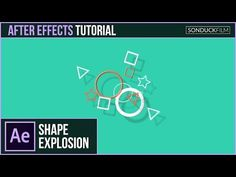 After Effects Tutorial: 2D Shape Particle Explosion - Motion Graphics - YouTube