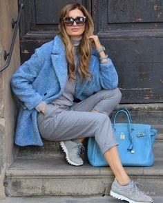 Уличная мода: Модная 49-летняя Zaklina Berrido Pisano или #бабушкакотораялюбитмоду