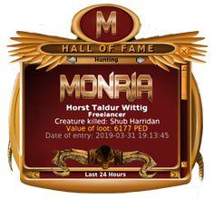 Congratulation Horst Taldur Wittig   Monria
