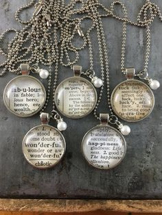 Personalized Vintage Dictionary Word Necklace by kraftykash