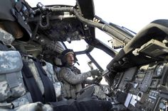 U.S. Army Chief Warrant Officer Leonard Pearson checks his navigation instruments before going on a mission aboard a UH-60 Black Hawk helicopter from Forward Operating Base Diamondback near Mosul, Iraq, Oct. 21, 2009. Pearson is assigned to Company C, 3rd Battalion, 25th Aviation Regiment, Forward Support Medevac Team.