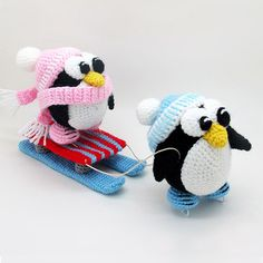 Penguins Sledge Amigurumi Pattern