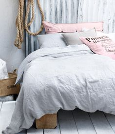Pink and grey linen from H & M.