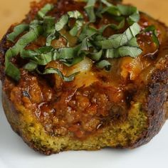 Meat Sauce Low-carb Broccoli Parmesan Cups Recipe by Tasty