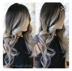 Shadow root ash blonde