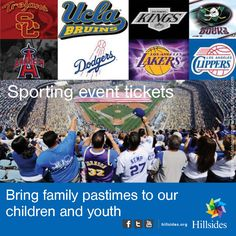 Although our children are in summer school they still need some fun in the sun! We're asking for your support in creating lasting summertime memories. Please click below and find out how a small investment can enrich a child's life.  http://www.hillsides.org/content/sporting-event-tickets