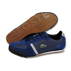 LACOSTE Men Aleron ST in Navy/Black/White Casual Shoes.  Buy these now before they are all gone!  Limited quantity available.