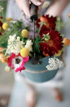 For a bouquet at a garden wedding? My Flower, Fresh Flowers, Wild Flowers, Beautiful Flowers, Fall Bouquets, Colorful Roses, Diy Wedding, Handmade Wedding, Floral Arrangements