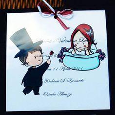 participazioni matrimonio - trasparenti sposi (impronte sule nuvole)