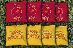 Iowa State Cyclones Team Logo Cornhole Replacement Bag Set