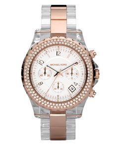 MICHAEL Michael Kors Two-Tone Crystal Watch.