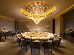 Conrad Beijing Hotel, China - Private Dining Room at Lu Yu Pho Restaurant, House Restaurant, Chinese Restaurant, Private Dining Room, Luxury Dining Room, Dining Room Design, Dining Table Chairs, Dining Area, Beijing Hotels