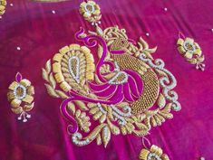 Bullion Embroidery, Maggam Work Designs, Maggam Works, Indian Fashion Dresses, Silk Saree Blouse Designs, Blouse Models, Peacock Design, Fancy, Work Blouse