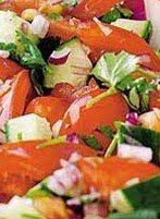 Surinaams eten!: Zuur van komkommer, tomaten, rode ui en verse kori...