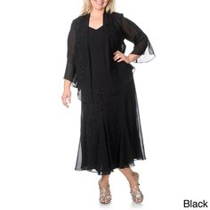 $94 R & M Richards Women's Plus Size Caviar Beaded Detail 2-piece Gown - Overstock™ Shopping - Top Rated R & M Richards Dresses