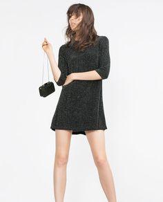 Image 3 of SHIMMER THREAD DRESS from Zara
