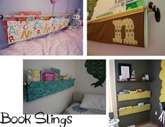 #DIY Book Sling tutorial. Great for a #kids room!