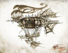 Starburner Airship by BunnyBennett
