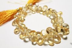 6 beads AAA Quality Citrine Faceted Pear by LifeConcerto on Etsy, $5.46