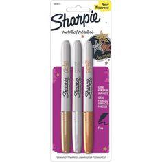 Sharpie fine set metallic - goud, zilver, brons