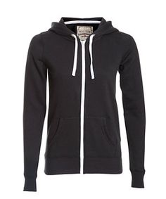 Black Zip Up Hoodie ($18) ❤ liked on Polyvore | Fav things ...