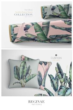 Tropical Pattern, Leaf Design, Beautiful Patterns, Home Textile, Print Patterns, Interior Decorating, Textiles, Hand Painted, Wallpaper