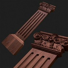 Flat pilaster with acanthus capital