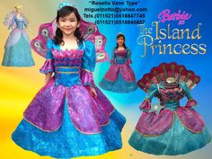Barbie Rosella The Island Princess handmade for childs toddler adults or girls purple turquoise blue with fiusha presentation 3 years dress for glitz pageant contests, carnival, disguise dressup peacock costume cosplay disguise performer play bat mitzvah party formal cheap quinceanera quince prompt cupcake ball gown for sale miguelzotto@yahoo... Princesa de la Isla Barbie Rosella vestido tipo disfraz pavorreal hermoso propio graduacion kinder presentacion 3 años, cumpleaños eventos formales