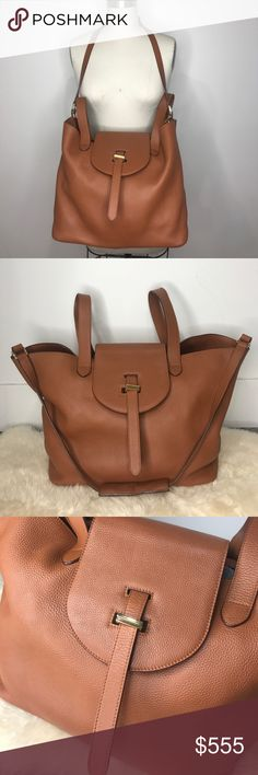 Meli Melo Olivia Palermo Tan Large Thela Tote Bag Bought it for $950 w tax. Bag has normal wear(please check all the photos closely). Love it but need to clear my closet to pay the student loan. Please find all my designer items in my closet- I work in the fashion industry and ONLY BUY AUTHENTIC designer items💕 Meli Melo Bags Totes