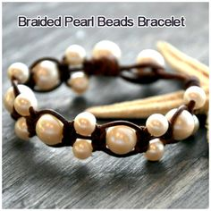Leather-and-Pearls-Bracelet-Idea