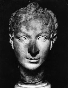 Head of Cleopatra, about 40 BCE - she was of Greek decent from Alexander the Great
