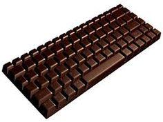 teclado de chocolate