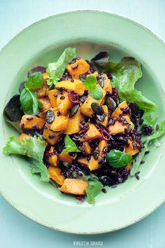Roasted Sweet Potato, Chili and Black Rice Salad