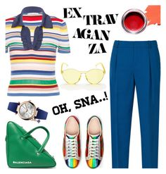 """""""Rainbow"""" by cilita-d ❤ liked on Polyvore featuring Alice + Olivia, Gucci, Balenciaga, Free People and Vivienne Westwood"""